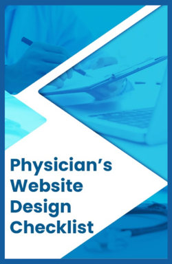 Physician's website design checklist cover image